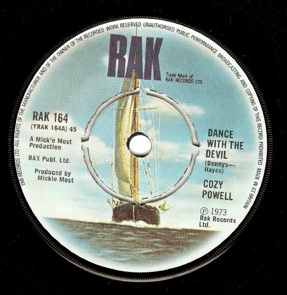 COZY POWELL Dance With The Devil Vinyl Record 7 Inch RAK 1973